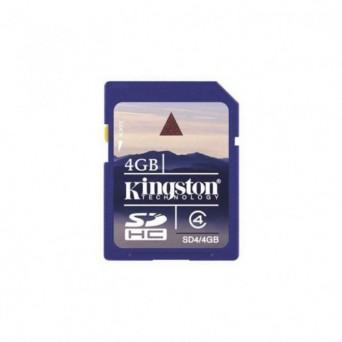 Tarjeta SD Kingston 4 Gb