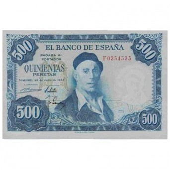 Billete 500 Pesetas 1954